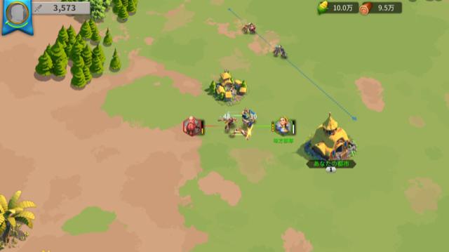 『ライズオブキングダム』の戦闘